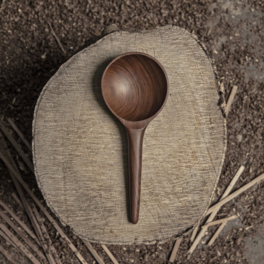 Dark wood rice paddle 2
