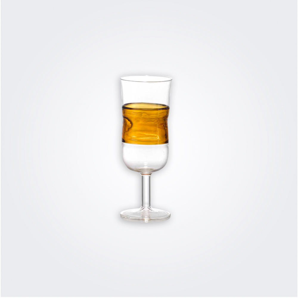 Amber prosecco glass set