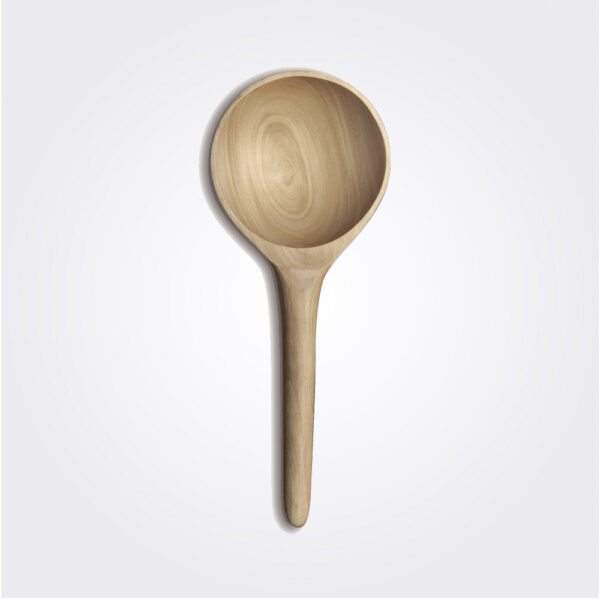 Light wooden rice paddle product picture.
