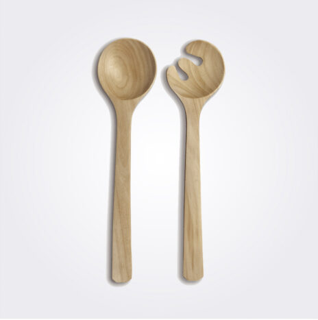 Light Wood Salad Serving Set
