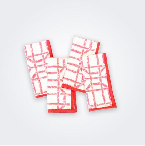 Pink Bamboo Napkin Set