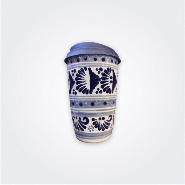 Blue talavera pottery thermo product picture.