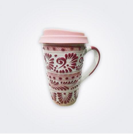 Pink Talavera Ceramic Coffee Mug