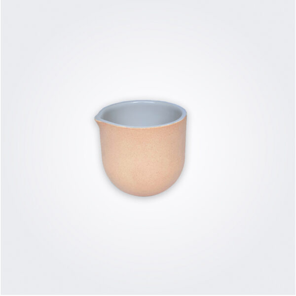 Small beige decorative vase product picture.