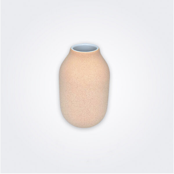 Stoneware beige decorative vase product picture.