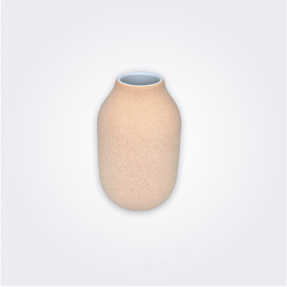 Beige stoneware decorative vase