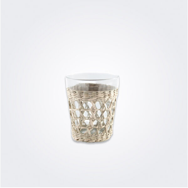 Seagrass cage tumbler set product picture.