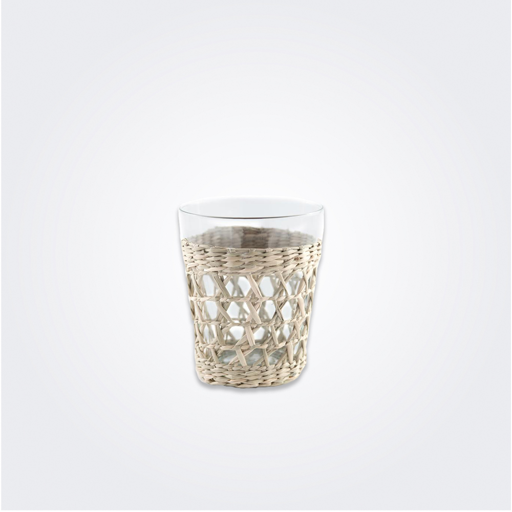 Wide seagrass cage tumbler set 1