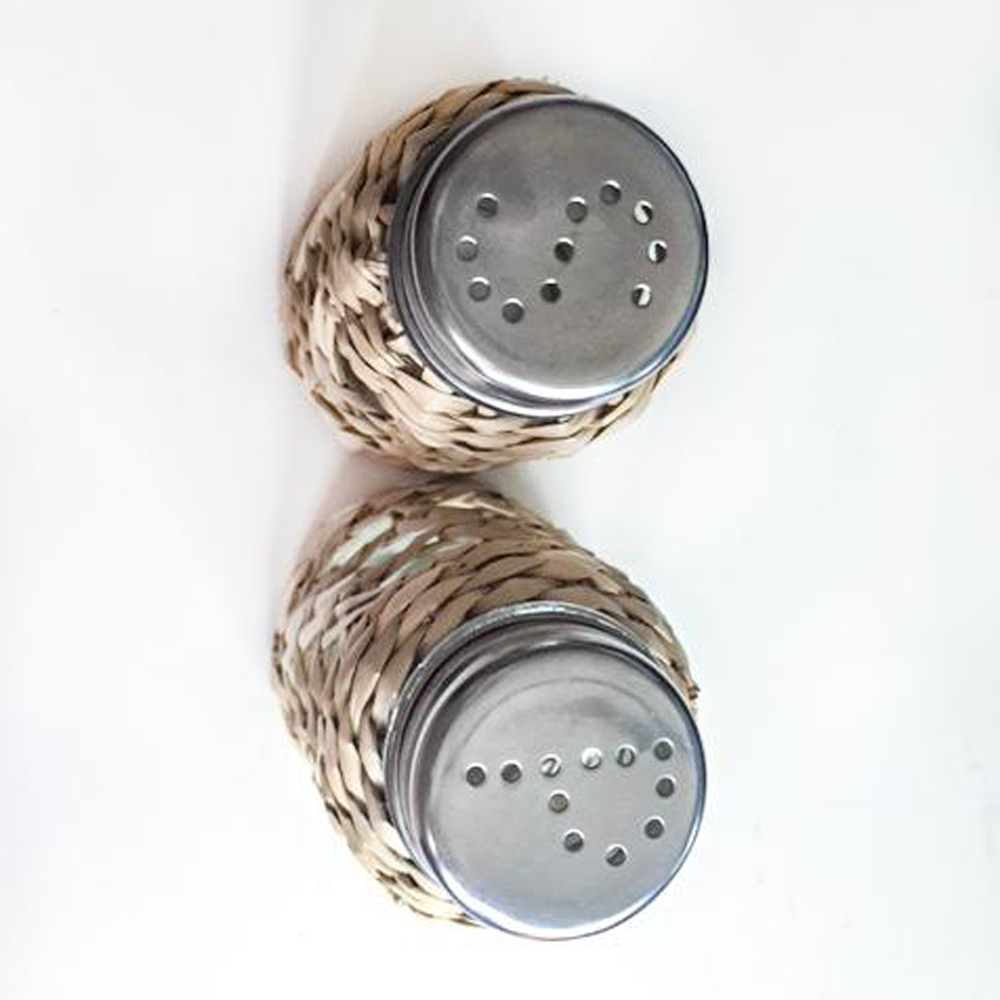 seagrass cage salt and pepper set 2