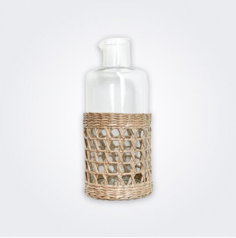 Mid Seagrass Cage Carafe