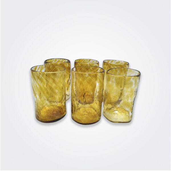 Amber highball glass set product picture.