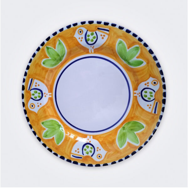 Bird ceramic dinner plate product picture.