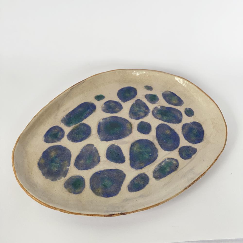 Blue Amazonian plate set 2
