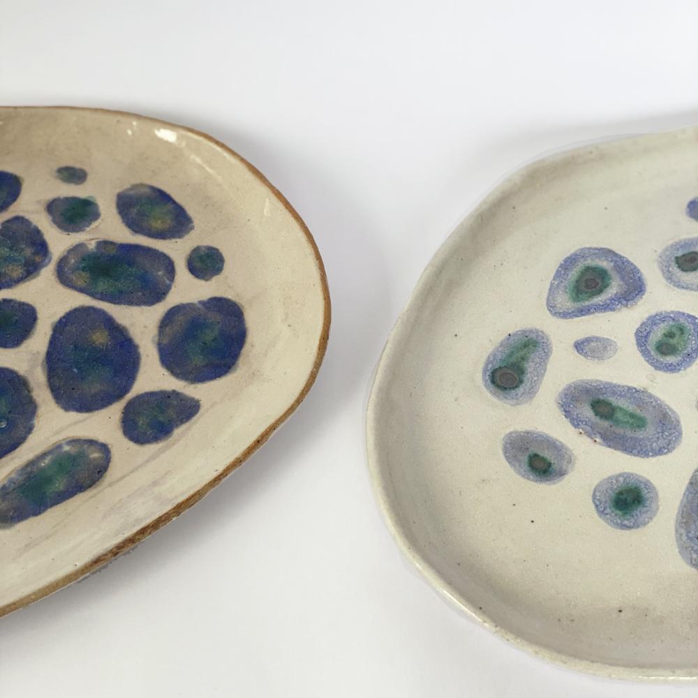 Blue Amazonian plate set 4