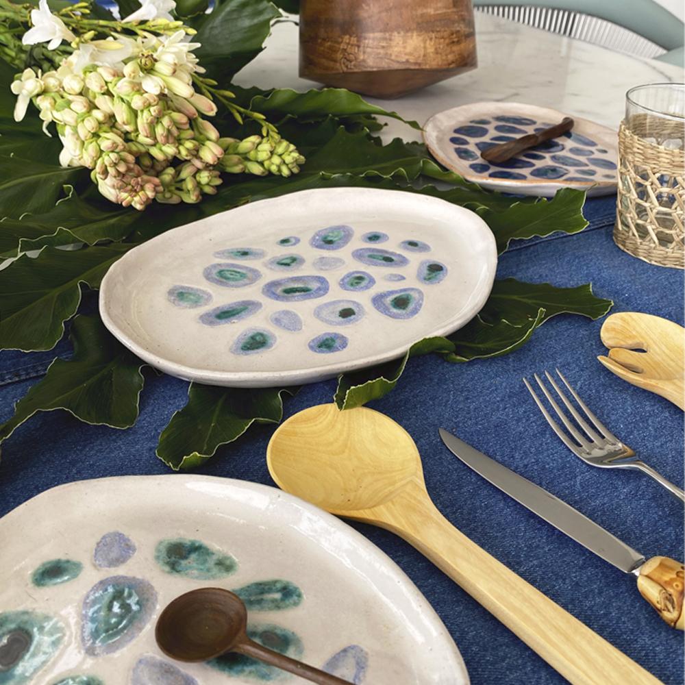 Blue Amazonian plate set 5