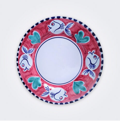 Blue Fish Ceramic Pasta Plate