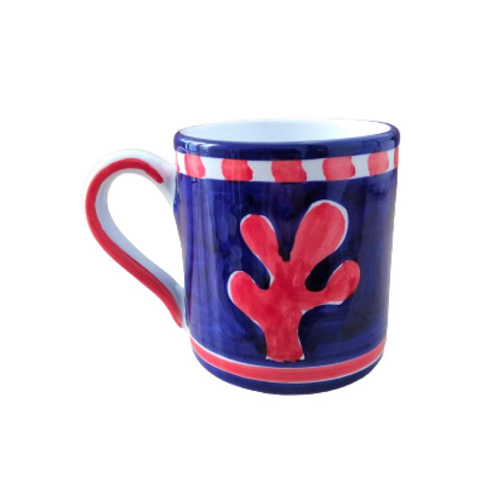 Blue fish ceramic mug 2