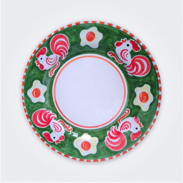 Cock ceramic dinner plate product picture.