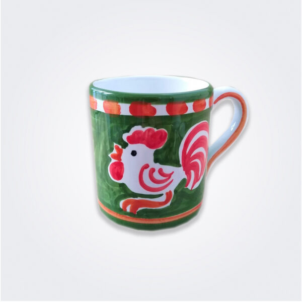 Cock ceramic mug product picture.