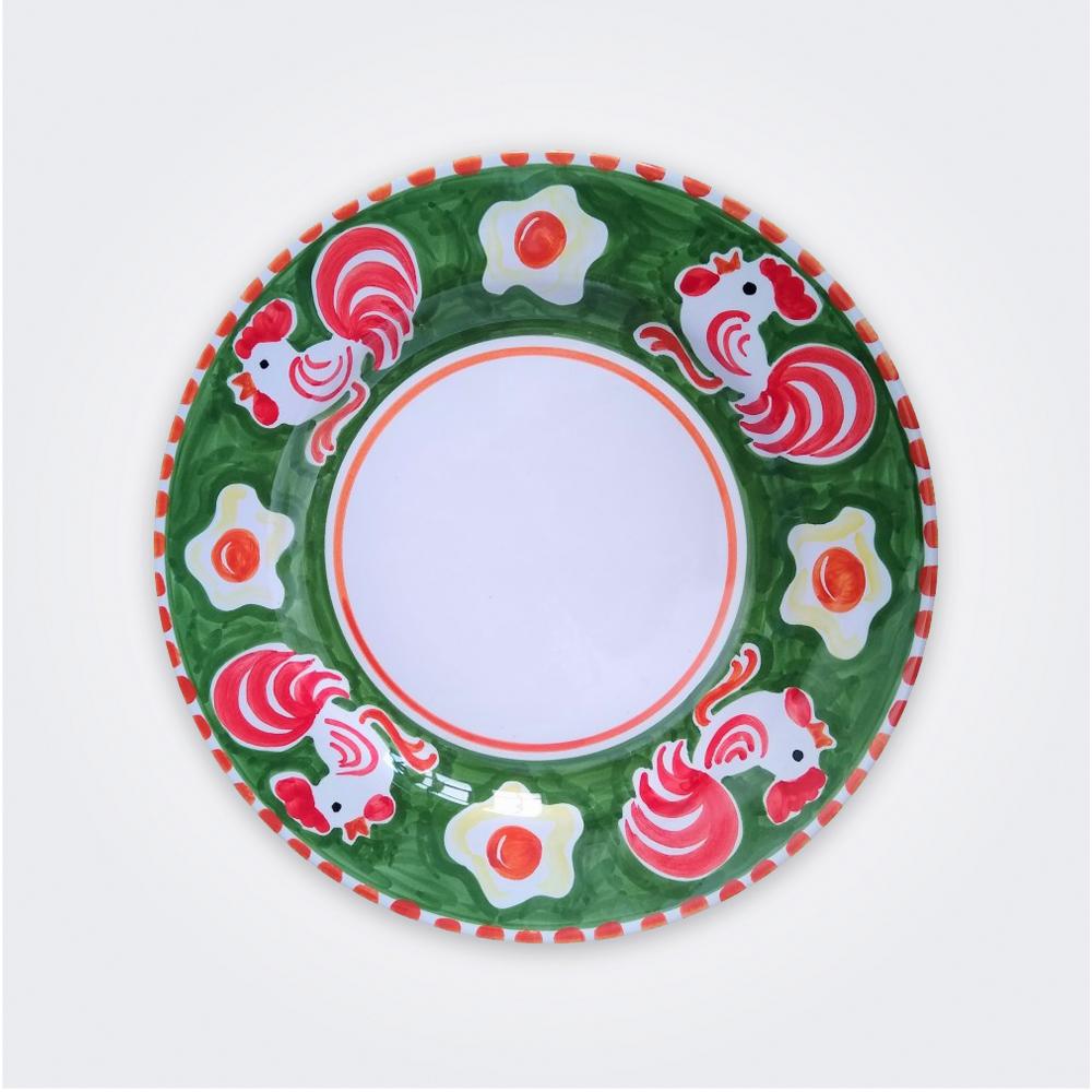 Cock Ceramic Pasta Plate