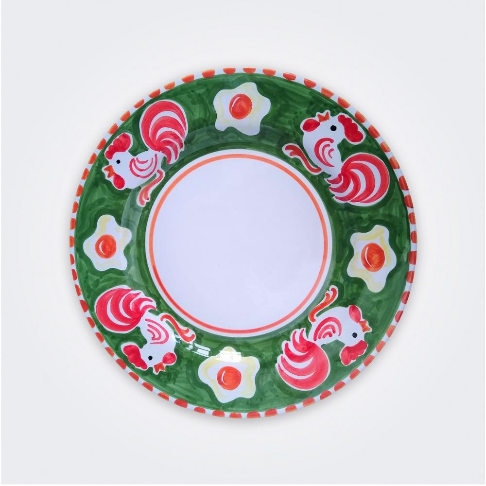 Cock Ceramic Salad Plate