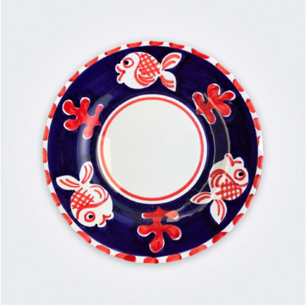 Fish ceramic salad plate product picture.