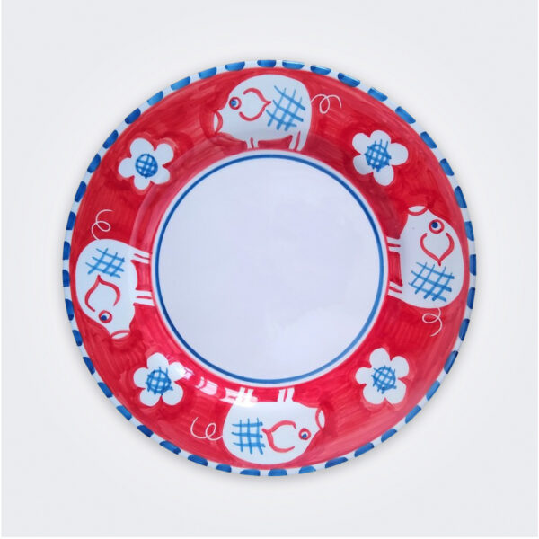 Pig ceramic dinner plate product picture.