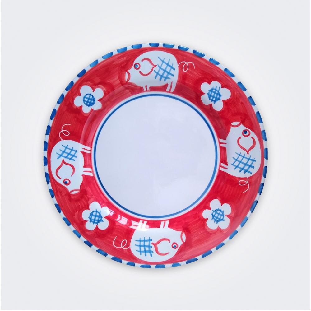 Pig Ceramic Pasta Plate