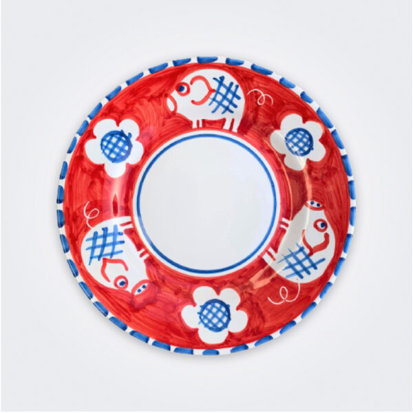 Pig ceramic salad plate product picture.