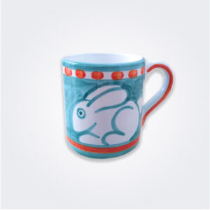 Rabbit ceramic mug product picture.
