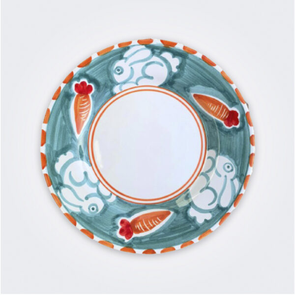 Rabbit ceramic salad plate product picture.