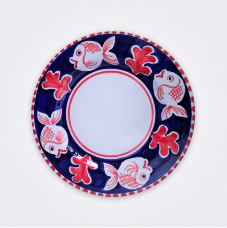 Red Fish Ceramic Pasta Plate