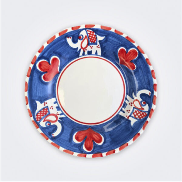 Elephant ceramic salad plate product picture.