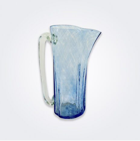 Turquoise Glass Pitcher