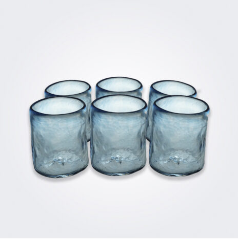Turquoise Glass Tumbler Set