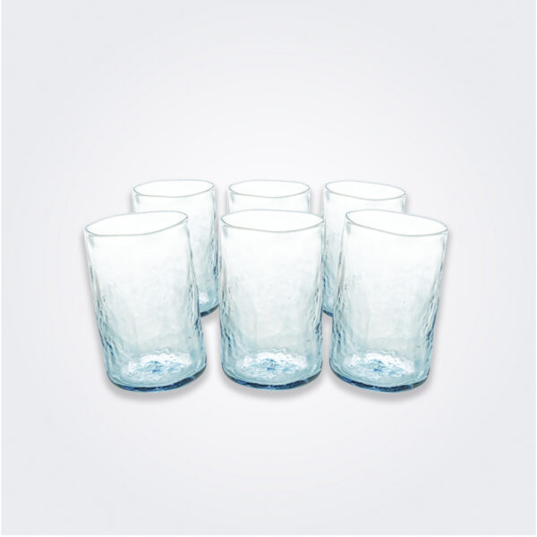 Turquoise highball glass set product picture.