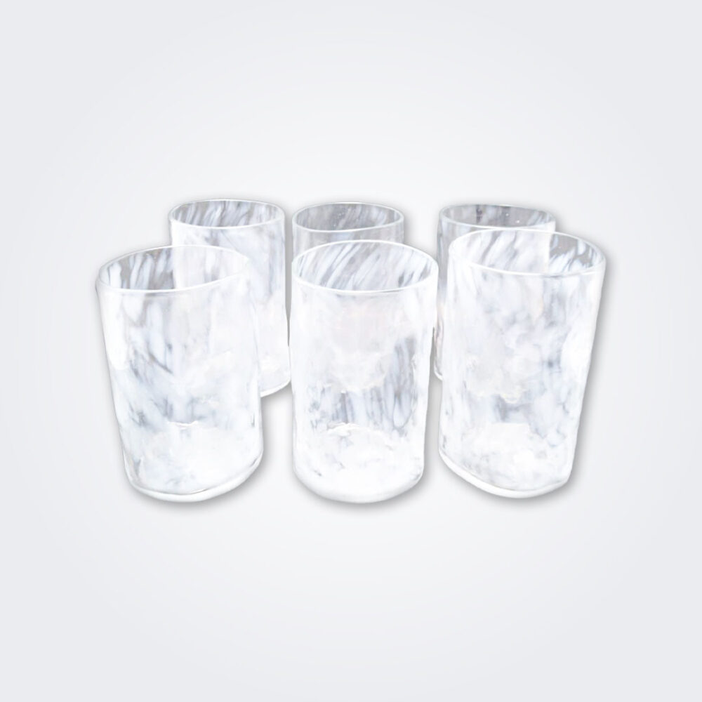 White glass highball set product picture