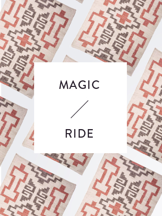 Magic ride with unique rugs.