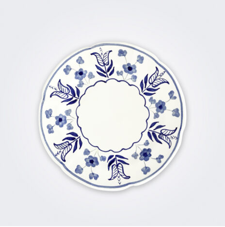 Blue Flowers Ceramic Dinner Plate Set