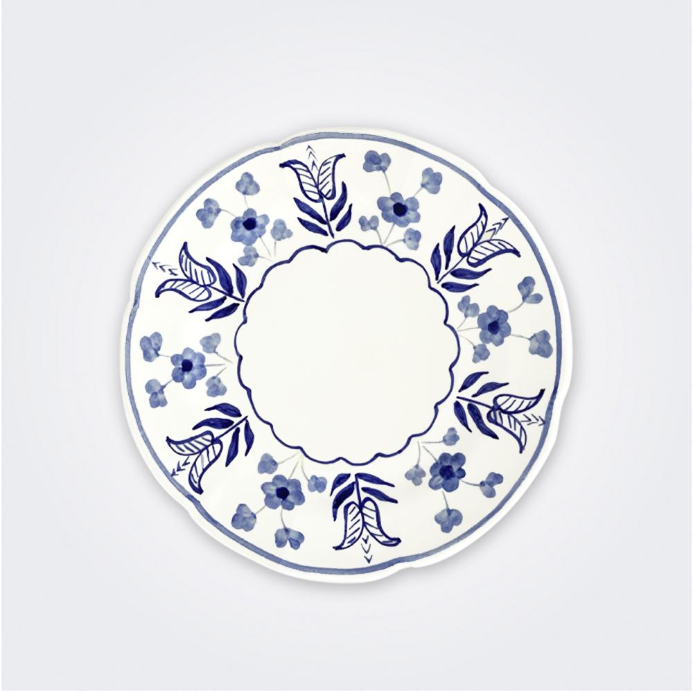 Blue flowers ceramic dinner plate 1