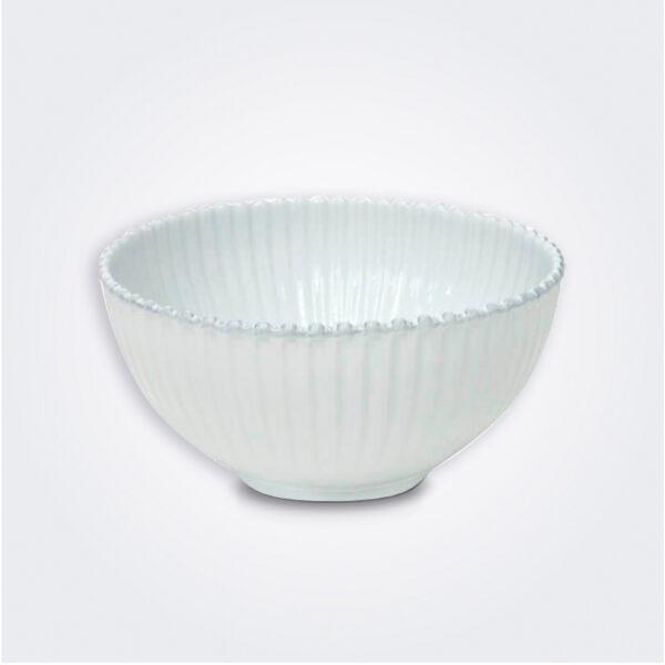 Costa nova pearl salad bowl gray background.