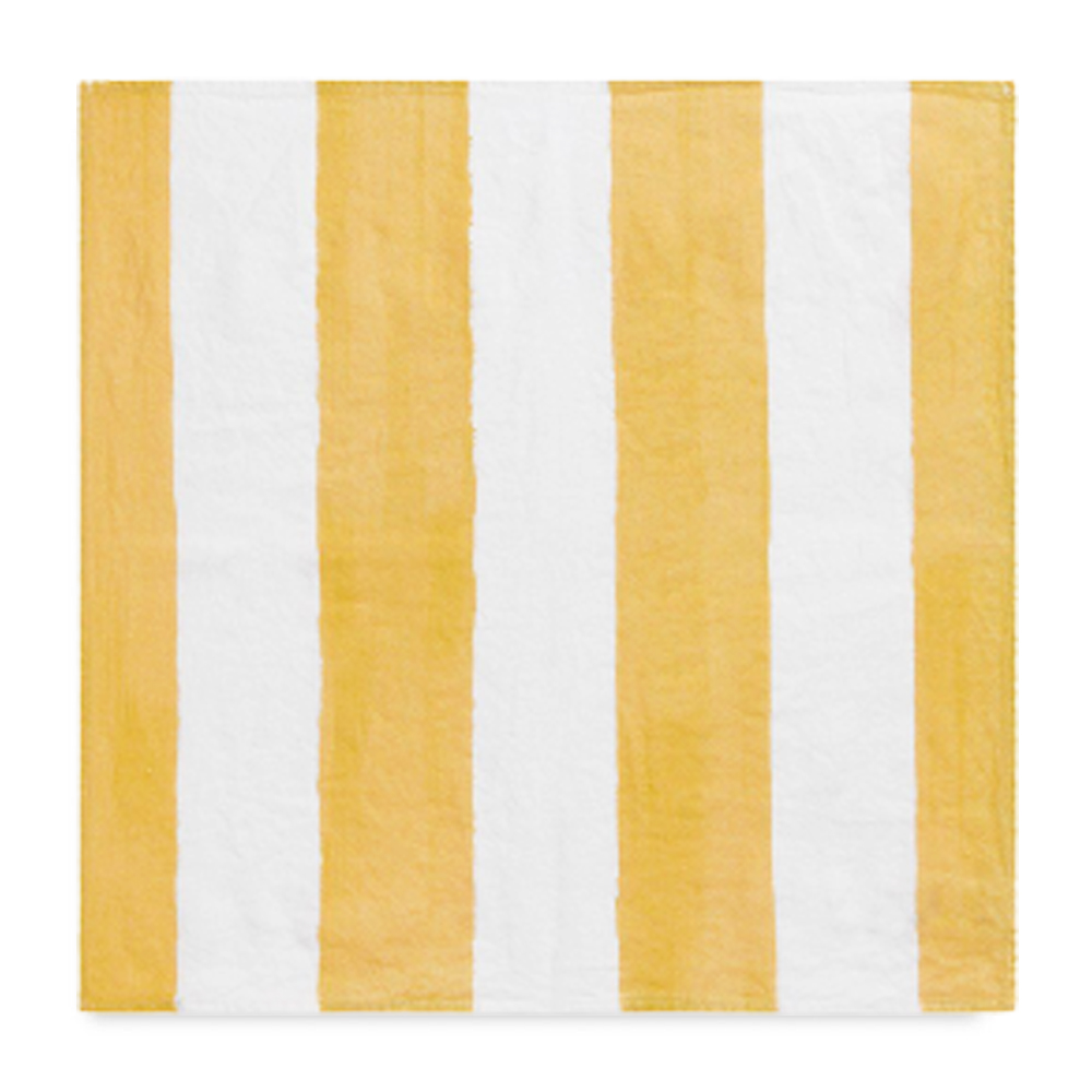 Yellow Striped Linen Napkin 2