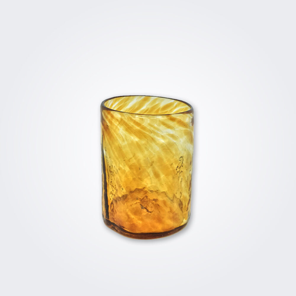 Amber glass tumbler set detail picture