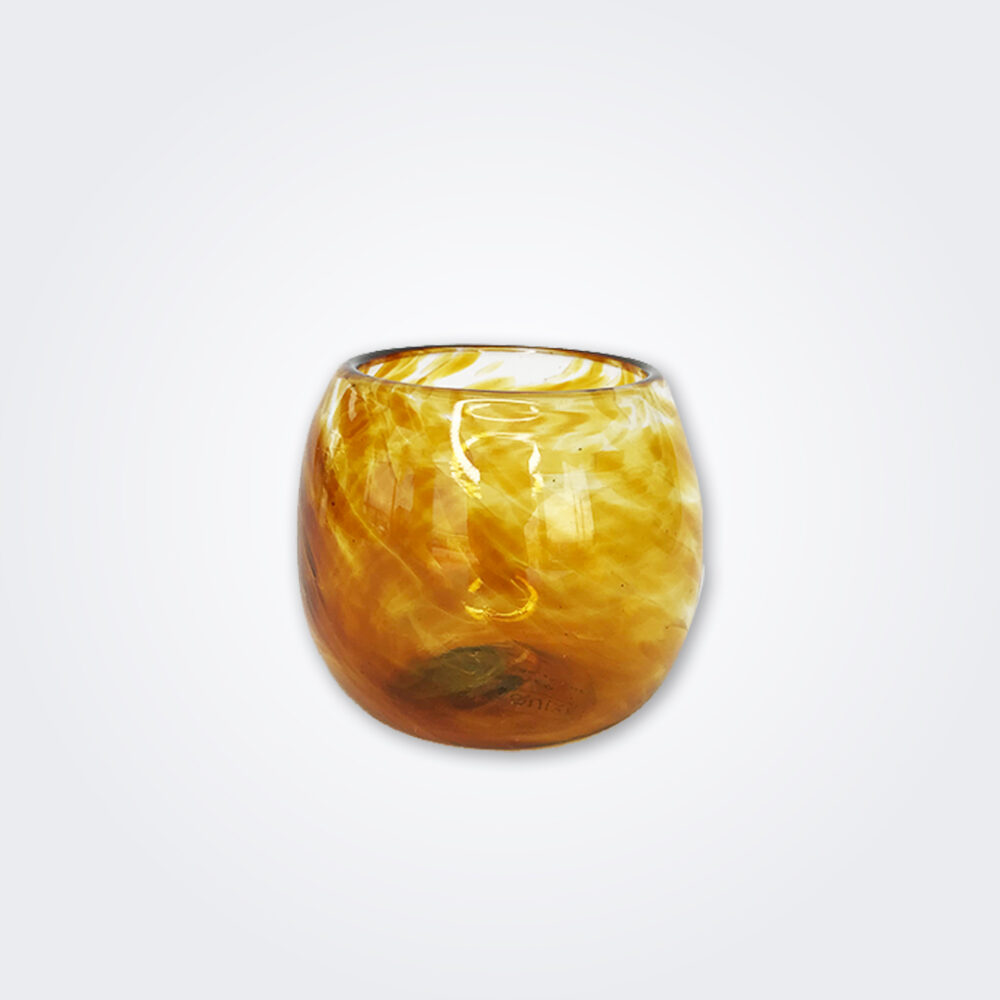 Amber stemless wine glass set detail picture