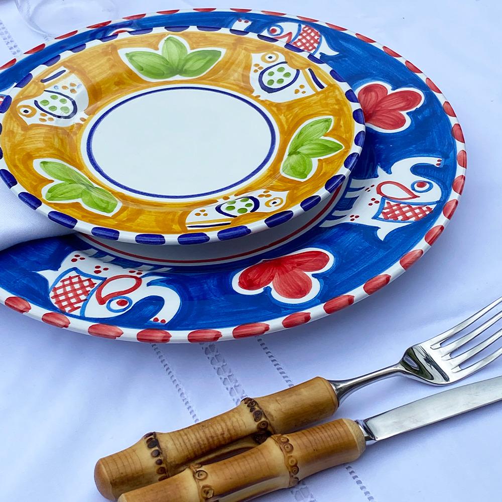 Bird ceramic salad plate