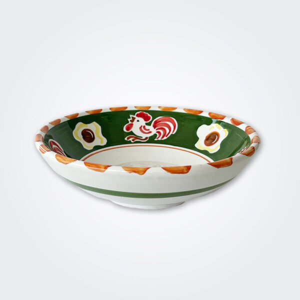 Cock ceramic pasta plate product picture.
