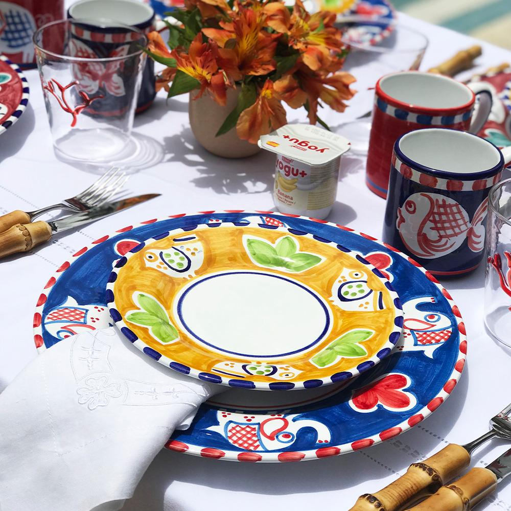 Elephant ceramic dinner plate context