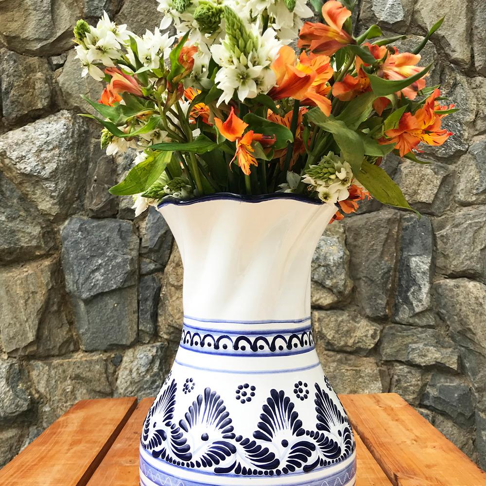 Large talavera pottery vase