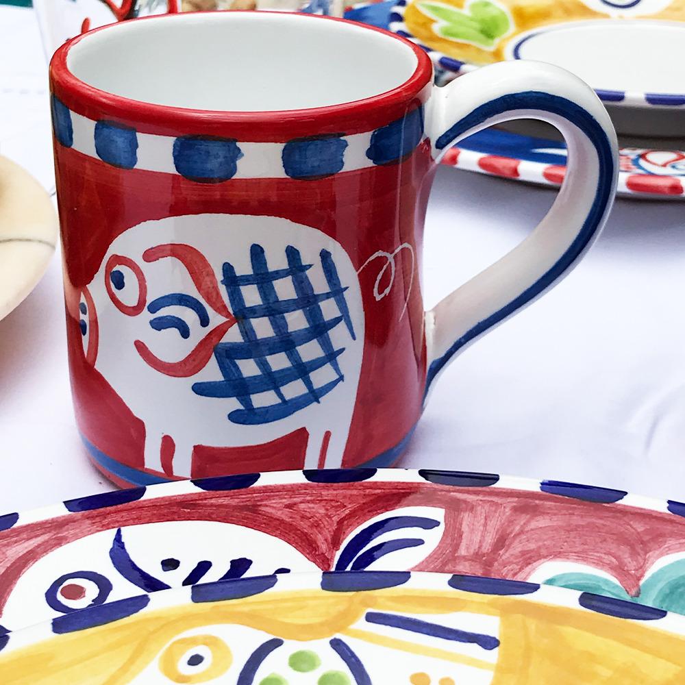 Pig ceramic mug context