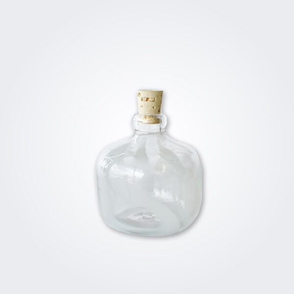 Small white glass carboy product picture.